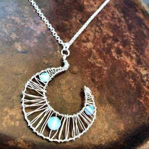 Moonlight Wire Wrap Necklace